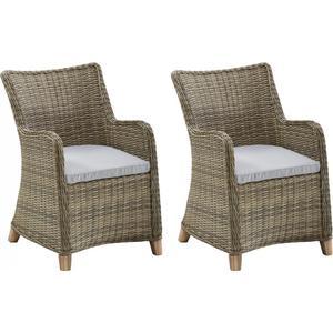 2 Gartensessel Gartenstühle Esstischstühle Polyrattan 2 Stück 7150233