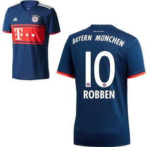 Adidas FC Bayern München Kinder Away Trikot 2017 2018 FCB Auswärtstrikot Arjen Robben 10 Gr 140