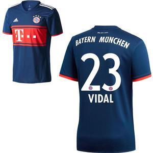 Adidas FC Bayern München Kinder Away Trikot 2017 2018 FCB Auswärtstrikot Arturo Vidal 23 Gr 140