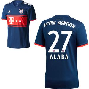 Adidas FC Bayern München Kinder Away Trikot 2017 2018 FCB Auswärtstrikot David Alaba 27 Gr 128