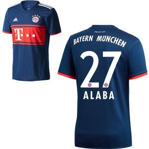 Adidas FC Bayern München Kinder Away Trikot 2017 2018 FCB Auswärtstrikot David Alaba 27 Gr 140