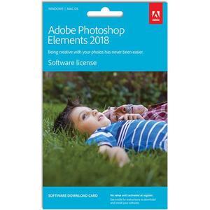 Adobe Photoshop Elements 2018, Bildbearbeitungssoftware, Product Key Card