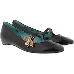 Gucci Ballerinas - Patent Leather Ballet Flat With Bee Black - in schwarz - Ballerinas für Damen