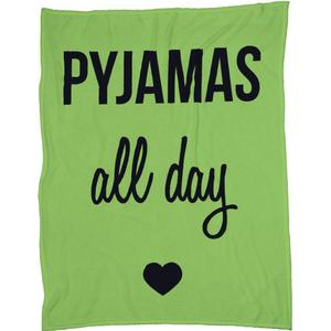 Pyjamas all day Fleecedecke