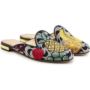 Charlotte Olympia Bestickte Mules Fruit Salad
