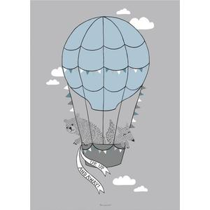 Bloomingville Hot Air Balloon Poster