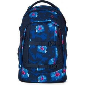 Satch pack Schulrucksack 48 cm waikiki blue blau weiße blumen