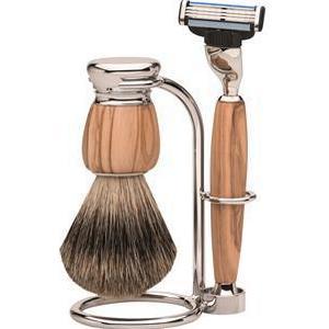 ERBE Shaving Shop Rasiersets Premium Milano Rasierset Mach3 Olivenholz 1 Stk.