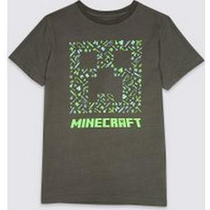 M&S Pure Cotton Minecraft Top (3-16 Years)