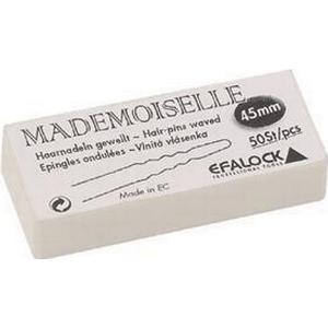 Efalock Professional Haarstyling Haarnadeln und Haarklammern Haarnadeln Mademoiselle Länge 4,5 cm Braun 50 Stk.