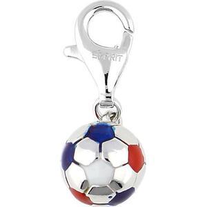 Esprit Charm 925 Silber Football ESZZ90466D Kettenanhänger silber Damen Gr. one size