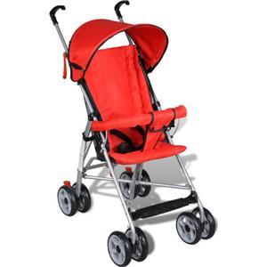 10055 vidaXL Kinderwagen Buggy Sportwagen Babywagen Babyjogger Reisebuggy Rot