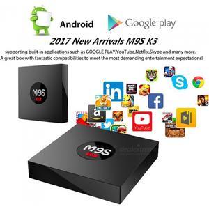 Consumer Electronics M9S K3 Android Smart TV Box RK3229 Quad-Core 4K Network Player Set Top Box with 2GB RAM 16GB ROM - US Plug