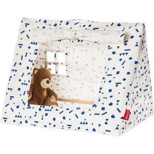 Deuz Mini-Spielzelt aus Bio-Baumwolle (50x40x40 cm), inkl. Stofftasche in blau