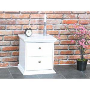 2x Nachttisch Nice Nachtschrank Beistelltisch Kommode Sideboard Schrank weiß