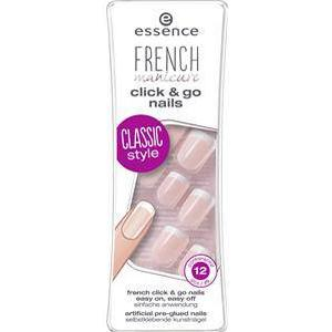 Essence Nägel Kunstnägel French Click'n Go Nails 12 Stk.