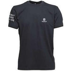 Husqvarna T-Shirt, Ready When You Are - Small logo