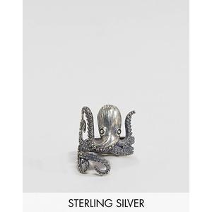 ASOS DESIGN - Ring aus Sterlingsilber mit Krake - Silber