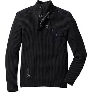 RAINBOW Herren-Pullover langarm in schwarz für Herren von bonprix