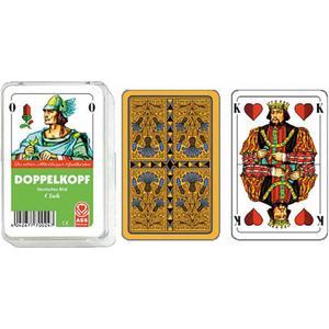 Altenburg Philos 6677 - Doppelkopf deutsches Bild Kornblume, Kunststoffetui, Spielkarten