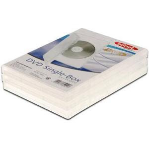 Assmann ednet 64041 - Leerhülle für CD, DVD, Blu Ray - Single Case für 1 Disc - Set aus 3 Stück - Transparen