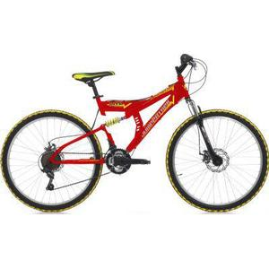 26 Zoll Cinzia Arrow Fully Mountainbike 21... rot