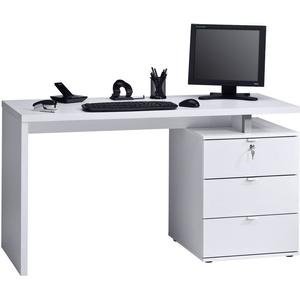 Maja Möbel Schreibtisch, weiß, weiß