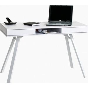 Maja Möbel Schreibtisch »Göttingen« mit Push-to-Open-Funktion, weiß, weiß-weiß