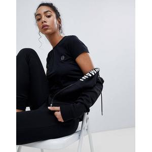 Armani Exchange - T-Shirt mit Rundhalsausschnitt und AX-Motiv - Schwarz