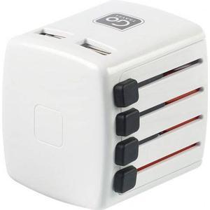 Go Travel Elektro + Elektronikgeräte Steckdose weltweit weiß