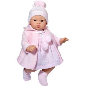Asi dolls - Koke Puppe in grau und rosa Jacke, 36 cm