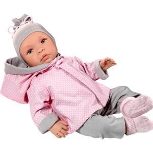 Asi dolls - Leonora Puppe in rosa und grauer Kleidung, 46 cm