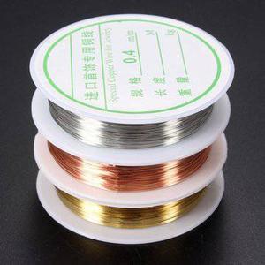 0.4mm Kupfer Draht bördelnd DIY Armband Ohrring Herstellung Cord