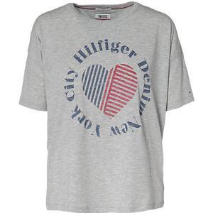 HILFIGER DENIM T-Shirt grau Damen Gr. 40