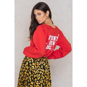 Colourful Rebel Front Row Only Oversized Raglan Sweat - Red