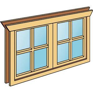 Doppel-Einbaufenster SKANHOLZ fr 45 mm Wandstrke