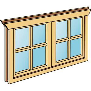 Doppel-Einbaufenster SKANHOLZ Doppelfenster mit H 70,5 cm fr 28 mm