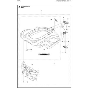 Gehaeuse Kit Complete 320 Grey