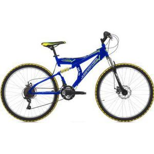 26 Zoll Cinzia Arrow Fully Mountainbike 21 Gang blau