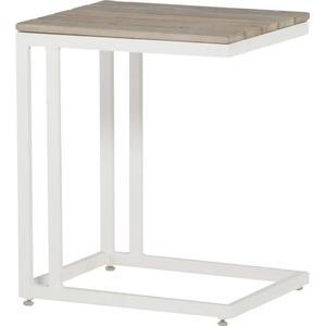 4SEASONS Cancun wei 45x35 cm Beistelltisch Tisch Lounge Aluminiumtisch