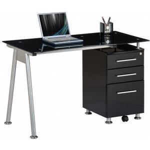 hjh OFFICE Nero | 120x60 - Schreibtisch