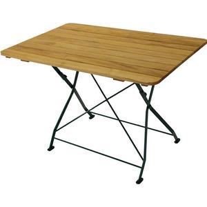 4Home Gartentisch aus Robinie massiv klappbar Holz,Grün,Braun