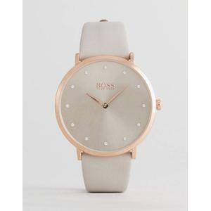 BOSS By Hugo Boss - 1502412 Jillian - Graue Uhr mit Lederarmband - Grau