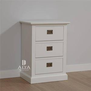 ALTA FURNITURE Schubladenschrank mit 3 Schubladen Snow white 5363-49