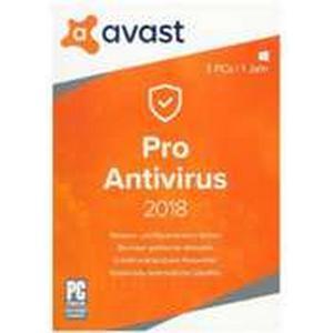 AVAST PRO Anti Virus 2018 - 3 PC, 1 DVD-ROM