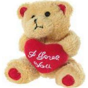 BÄR mit Herz hellbraun `I love you`, 10cm, hellbraun