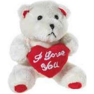 BÄR mit Herz beige ` I love you`, 10cm, hellbeige