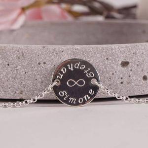 925 Silberarmband mit persönlicher Gravur Namensarmband