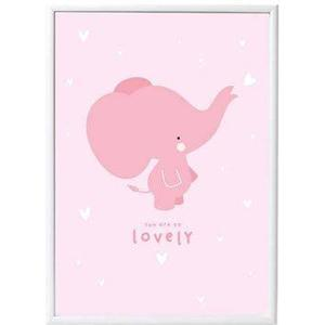 A little lovely Company Poster Pink Elephant