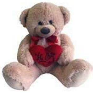 Bär mit Herz und Schleife, 70 cm